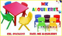 Alquiler De Sillas Y Mesas Infantiles Mk Alquileres