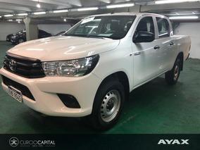 Toyota Hilux Dx Nafta 4x4 2.7 2017 Blanco Excelente Estado