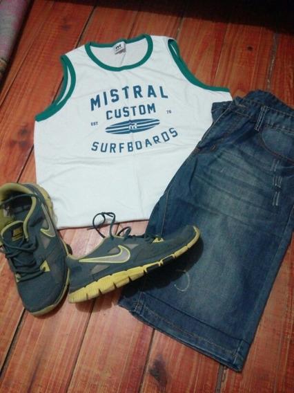 Bermuda, Musculosa Y Championes Nike Y Mistral (zara,hering)