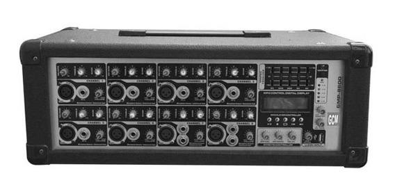 Consola Potenciada Gmp-8200 C/usb Efx + Eq + Display Lcd Gcm