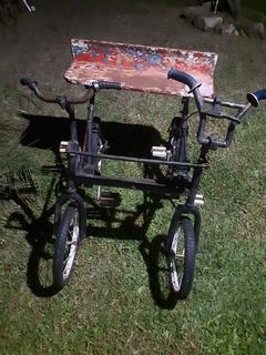 Bicicleta Antigua Doble De Niño