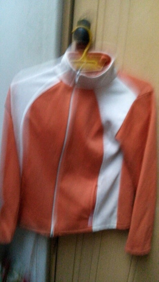 Campera Naranja Y Blanca Usada