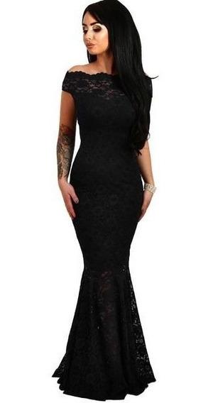 Licra Ideal Fiesta Vestido Negro Entallado Seda Fria