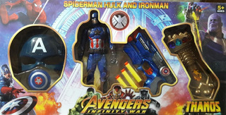 Avengers Infinity War Muñeco + Mascara + Guante + Arma