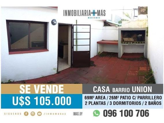3 Dormitorios Casa Venta Union Montevideo R *
