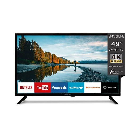 Smart Tv Led Smartlife 49 4k Uhd Nx Con Soporte Pared Pcm