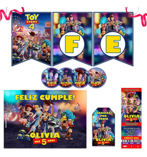 Kit Imprimible Toy Story 4 Candy Bar Personalizado Props