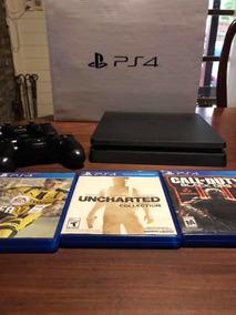 Playstation 4 Ps 4 Slim Con 2 Controles Y Juegos Excelente