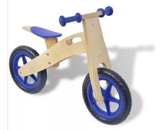 Bicicleta Para Niños De Madera Azul Sin Pedales Chivi Chiva