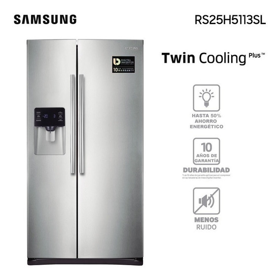 Heladera Samsung Side By Side Rs25h Garantía Oficial Samsung