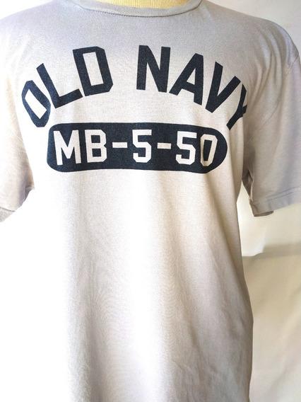 Old Navy Remera Gris Original Hombre