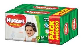 Pañales Huggies Active Sec G 88u - Bebés Y Niños