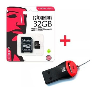 Memoria Micro Sd Kingston 32gb Canvas 80mb/s + Pendrive Febo