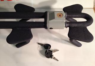 Traba Volante Seguridad Auto Anula Giro Volante Negro - F60