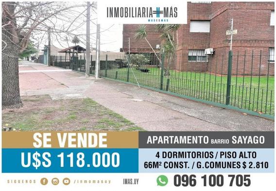 4 Dorm Apartamento Venta Sayago Montevideo K ***