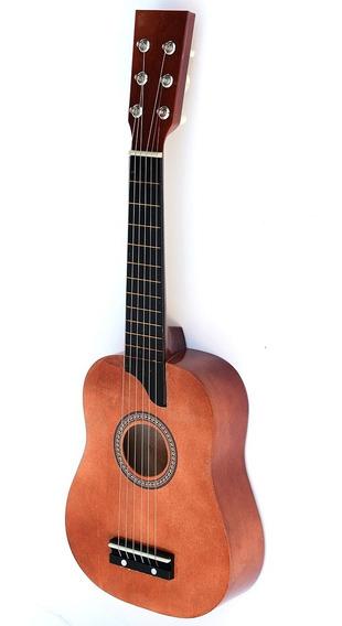 Guitarra Criolla Madera Cuerdas De Metal Infantil Ml 1035