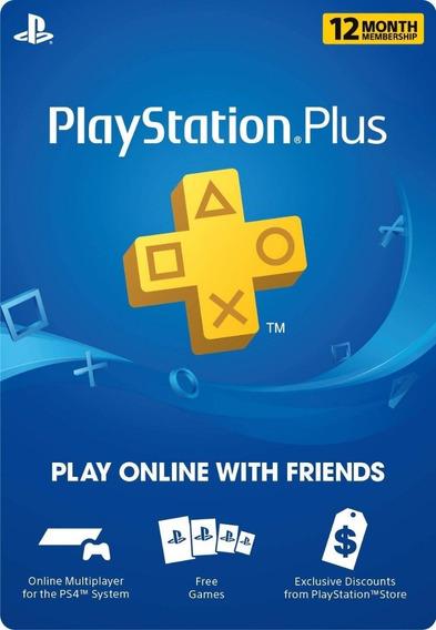Playstation Plus Psn 12 Meses 1 Año - Para Cualquier Pais