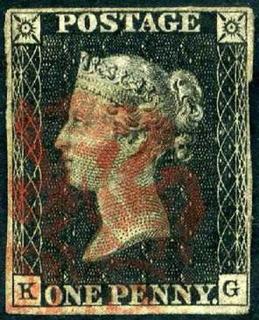 Gran Bretaña : Penny Black 1840 - 1er. Sello Del Mundo