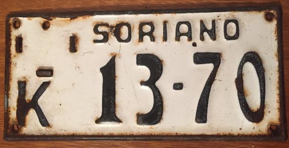 Placa Matrìcula Esmaltada De Carro - Soriano