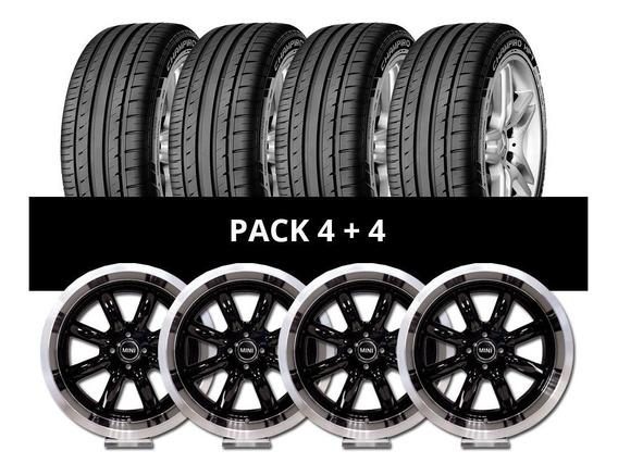 Pack 4 Llantas Rx Minilite + 4 Cubiertas Gt Radial 205/40 R1