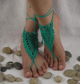 Sandalia Sin Pie En Crochet