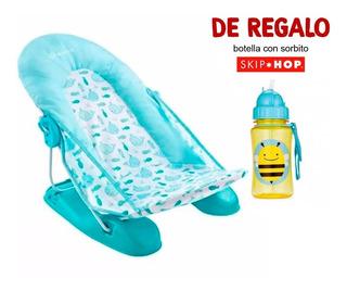 Nueva Reposera Para Bañito De Bebe Azul Summer