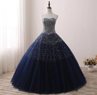 Venta Vestidos 15 Años Azul En Mercado Libre Uruguay