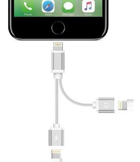 Cable Adaptador 2 En 1 iPhone 7 8 X Auricular Carga Musica ®