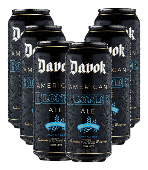 Cerveza Davok Blonde X 6 Latas 500ml