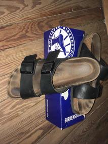 Zapatillas Birkenstock Originales. Talle 38 Negras De Cuero.