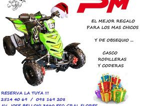 Cuatri P/ Niño 50 Mini Motos Casco Y Protectores De Regalo!