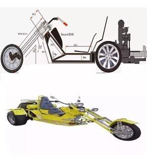 Planos Moto Triciclo Tribickers Motocicleta 3 Ruedas Stand