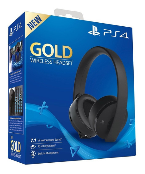 Auriculares Ps4 Playstation 4 New Gold Inalámbricos