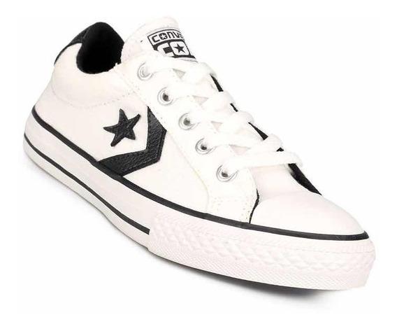 Calzado Converse Star Player Blancos Y Negro Del 40 Al 44
