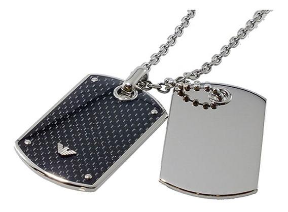 Bijoux Emporio Armani Gent Necklace Silver