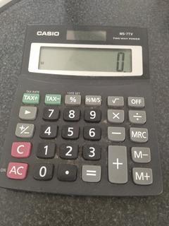 Calculadora Casio Ms 7tv Solar Y A Pila