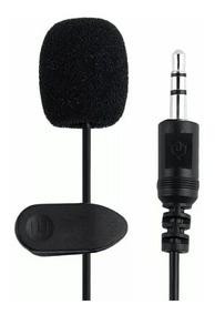 Micrófono Externo Celular Tablet iPhone Samsung C/ Clip 2m ®