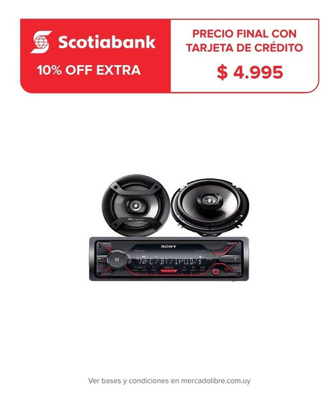 Combo Auto Radio Sony Dsx-a410bt + Parlantes Pioneer 6