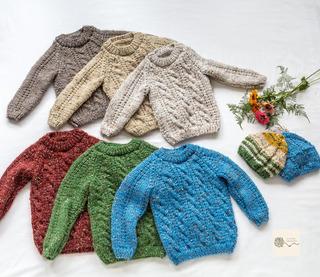 Buzo/sweater Para Niño/bebé Tejido A 2 Agujas De 0a3años