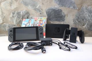 Nintendo Switch Impecable Con Mario Odissey Y Fifa 19 Fisico