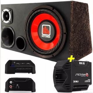 Caja De Audio Auto Subwoofer 12 Sellada + Potencia Taramps