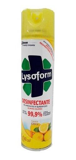 Lysoform Aerosol Citrico Regular 360 Ml