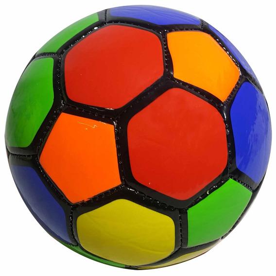 Pelota Futbol Cuero Num 2 Multicolor Deporte - El Regalón