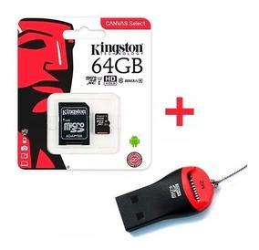 Memoria Micro Sd Kingston 64gb Canvas 80mb/s + Pendrive Febo