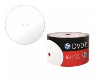 Dvd R 16x Hp 120 Min Video 4.7gb Printables