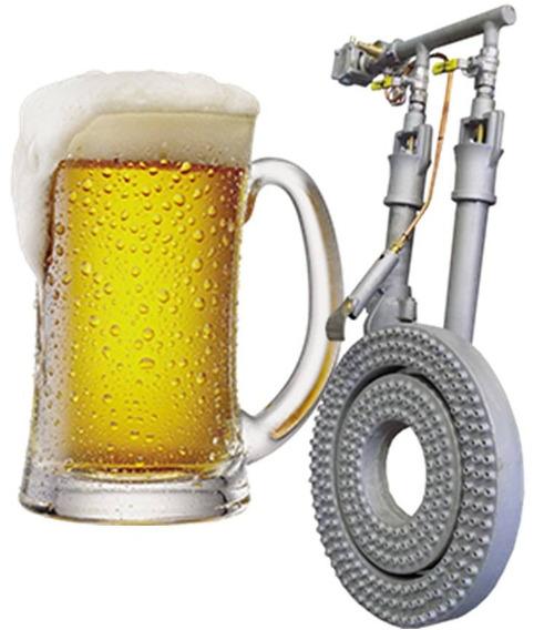 Quemador Cervecero 70000 Kcal/h De Alta Calidad Diam 50 Cm