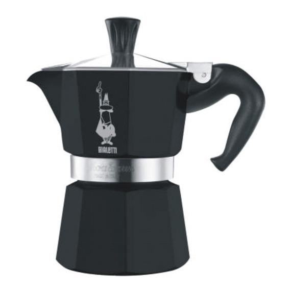 Cafetera Bialetti Moka Negra 6 Tazas