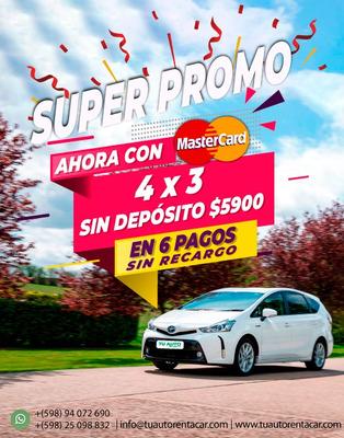 Alquiler De Autos Sin Deposito / Super Promo 4 Días 5.900 !