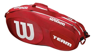 Bolso Para 6 Raquetas Wilson Match Team Raquetero