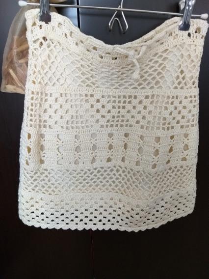 Pollera De Crochet Nueva Talle 1
